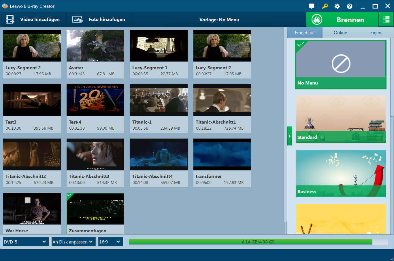 Blu-ray Creator Screenshot